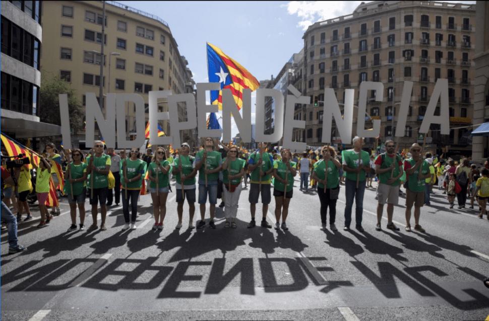 Los secesionistas buscan que Cataluña se independice de España. (EFE)