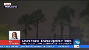 Mantienen Toque Queda Miami Florida Paso Irma