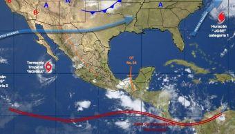 mapa con el clima para este 18 de septiembre