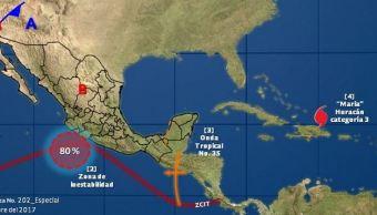 mapa con el clima para este 22 de septiembre