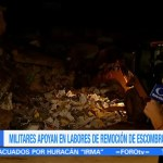 Maquinaria pesada empieza a remover escombros del Palacio Municipal de Juchitán