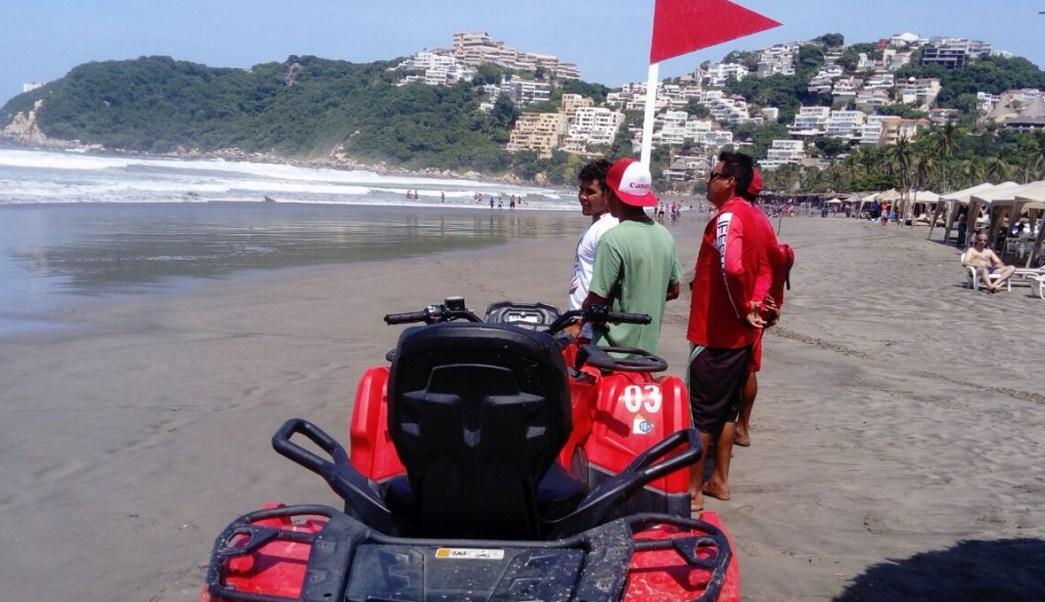 alertan turistas mar fondo y tormenta tropical max guerrero