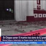 Más de 40 mil viviendas afectadas por sismo en Chiapas