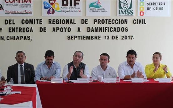 Mikel Arriola acude a reunión para analizar los daños que provocó el sismo en Chiapas