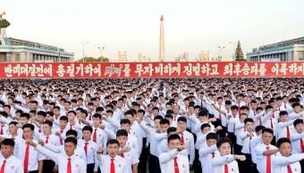 Miles de norcoreanos protestan contra amenazas de Trump