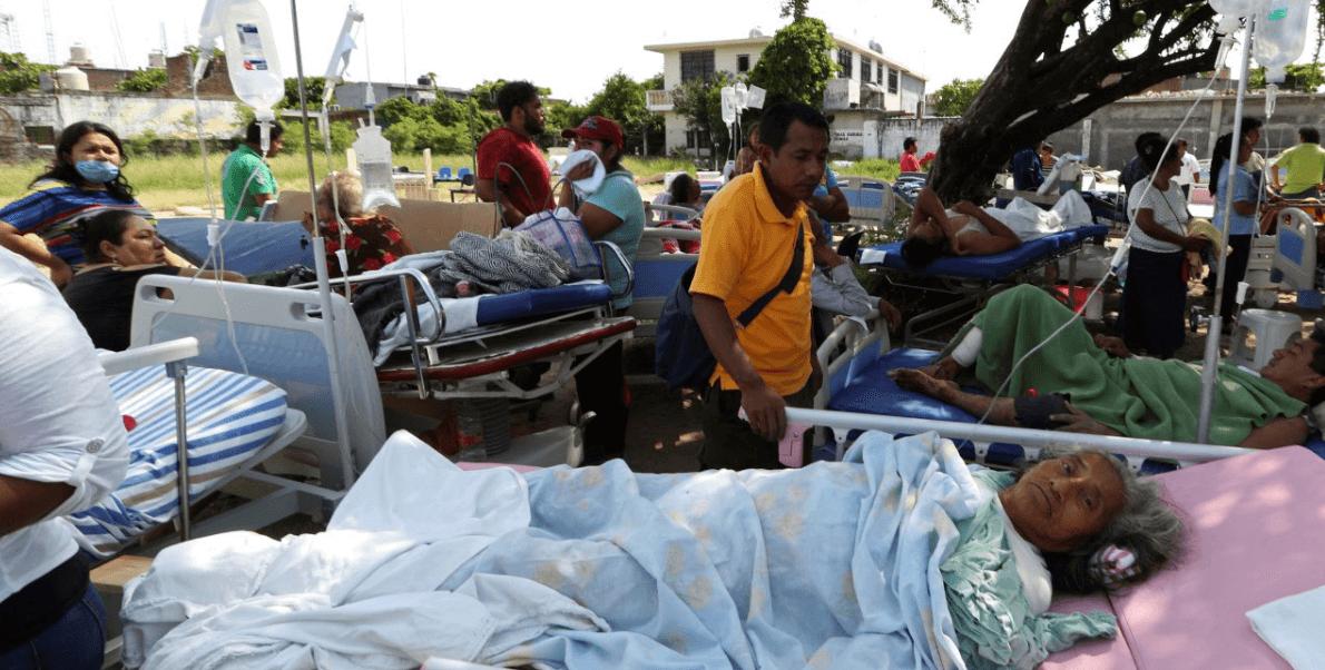 Pacientes de un hospital en Juchitán, Oaxaca, fueron evacuados