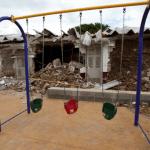 Patio de juegos afectado tras sismo en Oaxaca