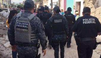 PF refuerza seguridad en zonas afectadas por sismo
