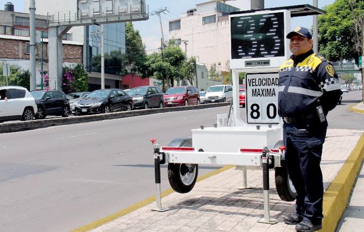 Instalan 20 radares preventivos de velocidad en la CDMX
