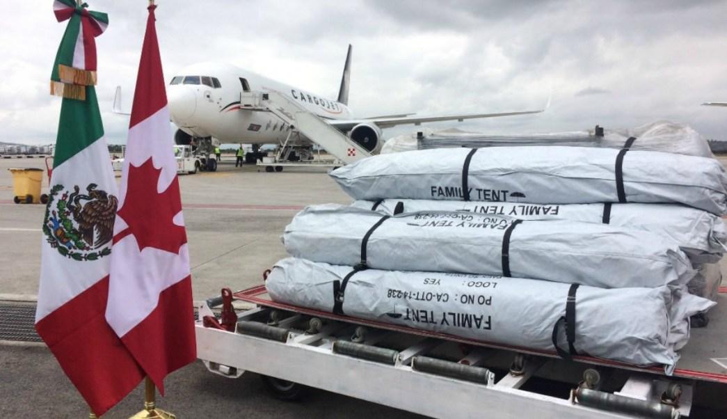 Canadá dona 1500 tiendas de campaña para los damnificados por el sismo