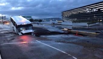 lluvias provocan socavon inundaciones en queretaro