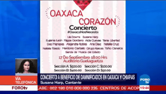 realizarán concierto para ayudar damnificados sismo oaxaca