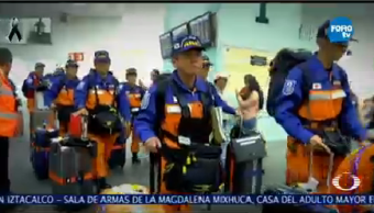 Rescatistas Japoneses Brindaron Ayuda México Emergencia Sismo