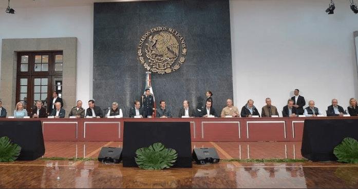 Reunión de Conago y empresarios con Enrique Peña Nieto sobre reconstrucción
