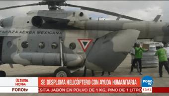 Desploma Helicóptero Ayuda Humanitaria Chiapas Gobernador De Chiapas, Manuel Velasco