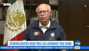 Atendiendo Gratuitamente Consecuencia Sismos Secretario De Salud José Narro