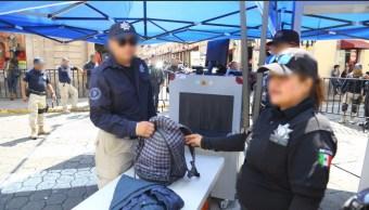 Refuerzan seguridad en Centro Histórico de Morelia, Michoacán