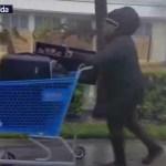 Mujer se enfrenta cara a cara con el huracán 'Irma' en Florida