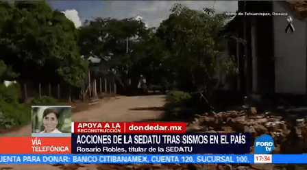 Titánico proceso reconstrucción sismos Rosario Robles Sedatu Rosario Robles