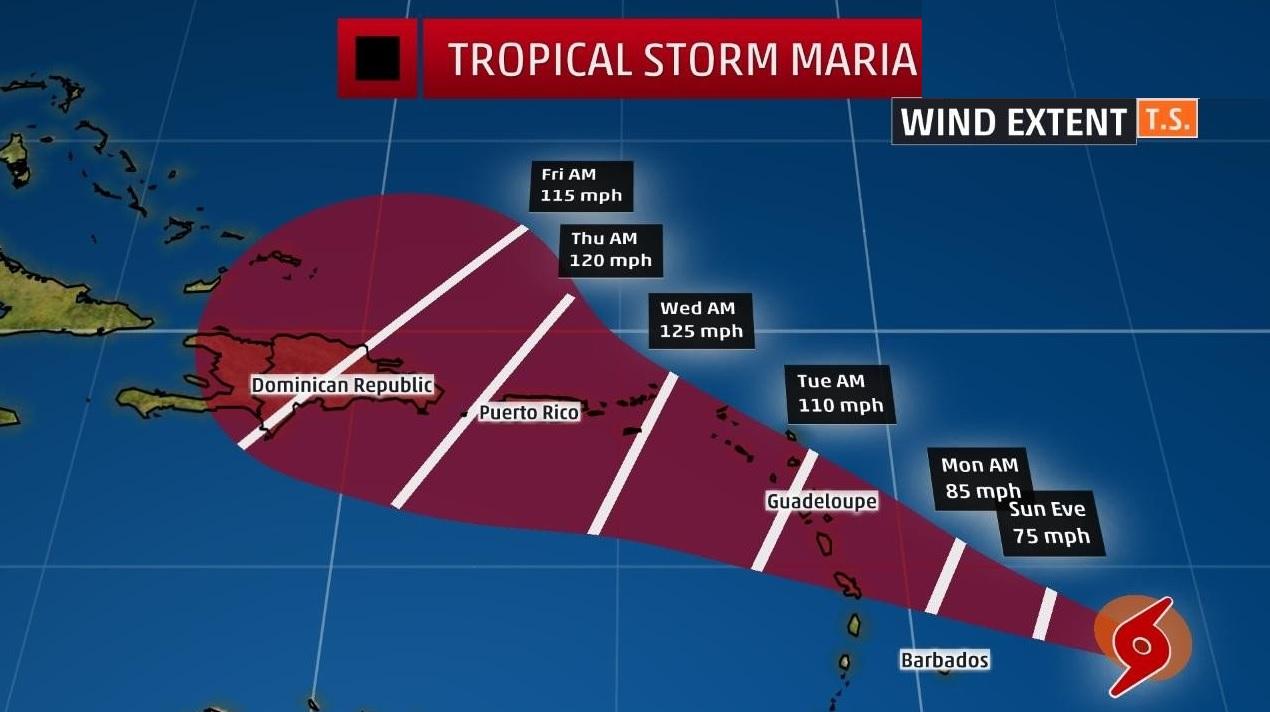 Aumentó a categoría 4 y se vuelve 'extremadamente peligroso — Huracán María