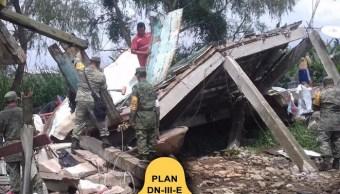 plan DN-III-E en Chiapas y Oaxaca tras el sismo
