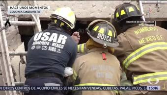 Trasladan Hospital Magdalena Salinas Hombre Rescatado Edificio Colapsó Lindavista
