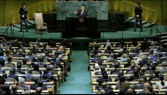 Trump se dirige ante la Asamblea General de la ONU