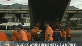 Venezuela envía ayuda alimentos México Sismo