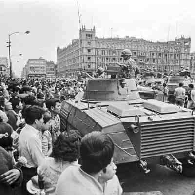 Fotografías del movimiento estudiantil de 1968 (y su represión por parte del gobierno)