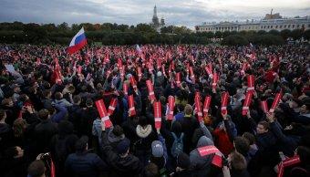 opositores marchan en rusia apoyar navalny