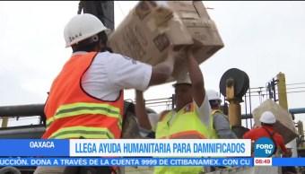 Llegan a Oaxaca casi 230 toneladas de ayuda para damnificados por sismo
