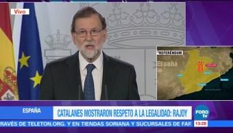 Rajoy confirma que en Cataluña no hubo un referéndum independentista
