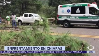 Mueren dos policías durante enfrentamientos con tzotziles en Chiapas
