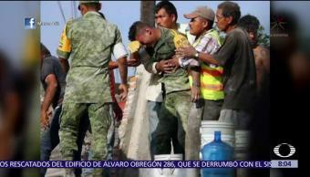 Llanto de soldado en Morelos, imagen viral del sismo 19-S