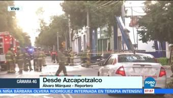 Controlan explosión en zona industrial de Azcapotzalco