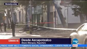Dos lesionados por explosión en zona industrial de Azcapotzalco