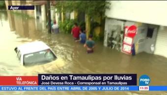 Reportan dos muertos por inundaciones en Tamaulipas