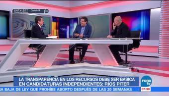 Busca Ríos Piter candidatura independiente