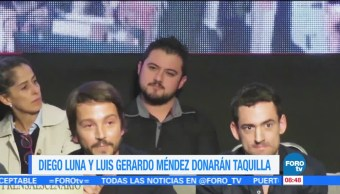 #LoEspectaculardeME: Diego Luna y Luis Gerardo Méndez donarán taquilla a damnificados