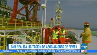 Comisión Nacional de Hidrocarburos realiza licitación de asociaciones de Pemex