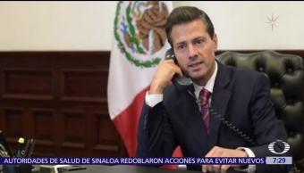 EPN habló con Trump para externar condolencias por masacre de Las Vegas