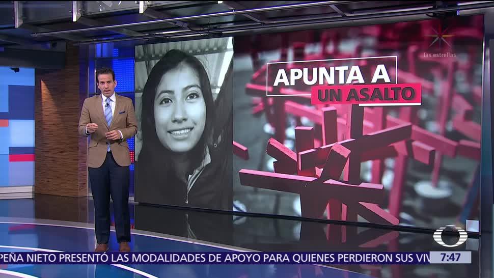 Fiscalía de Puebla señala que asesinato de Mariana Fuentes fue por asalto