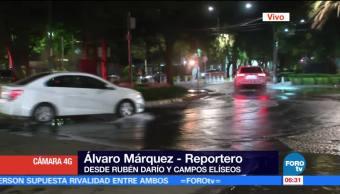 Se registra fuga de agua en Campos Elíseo, CDMX