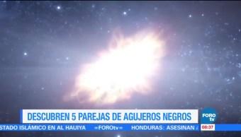 Extra, Extra: Descubren 5 parejas de agujeros negros