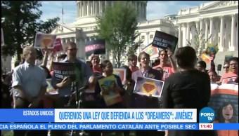 Protestas en Washington a favor de los dreamers