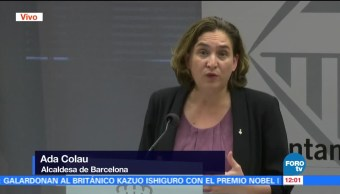Alcaldesa de Barcelona no descarta diálogo con supervisión de la UE