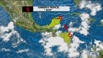 Alerta en Yucatán por tormenta tropical 'Nate'