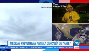 Quintana Roo aplica medidas preventivas ante cercanía de 'Nate'