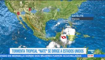 Tormenta tropical 'Nate' no tocará tierra en México