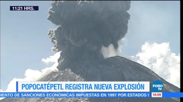 Así fue la explosión del volcán Popocatépetl de este sábado